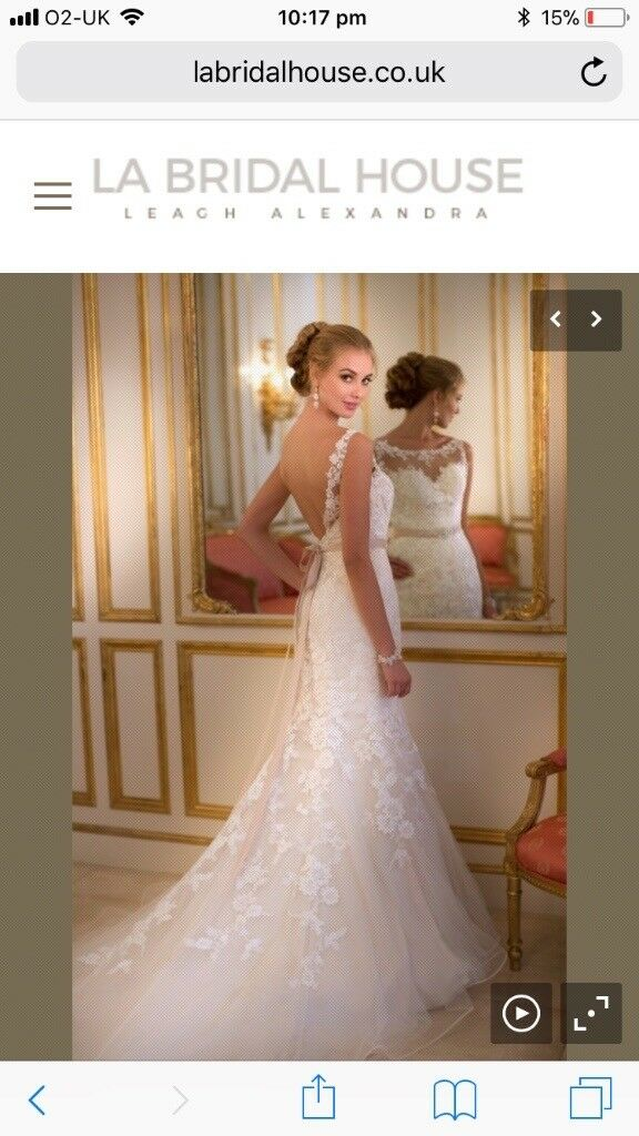 Ivory Stella York Wedding Dress Size 12 14