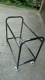Industrial vintage style metal trolley