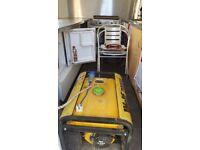 Catering trailer new gas hob,2.5kva generator fridge freezer 6 pot bambre etc