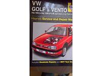 Haynes Manual, VW Golf MK3
