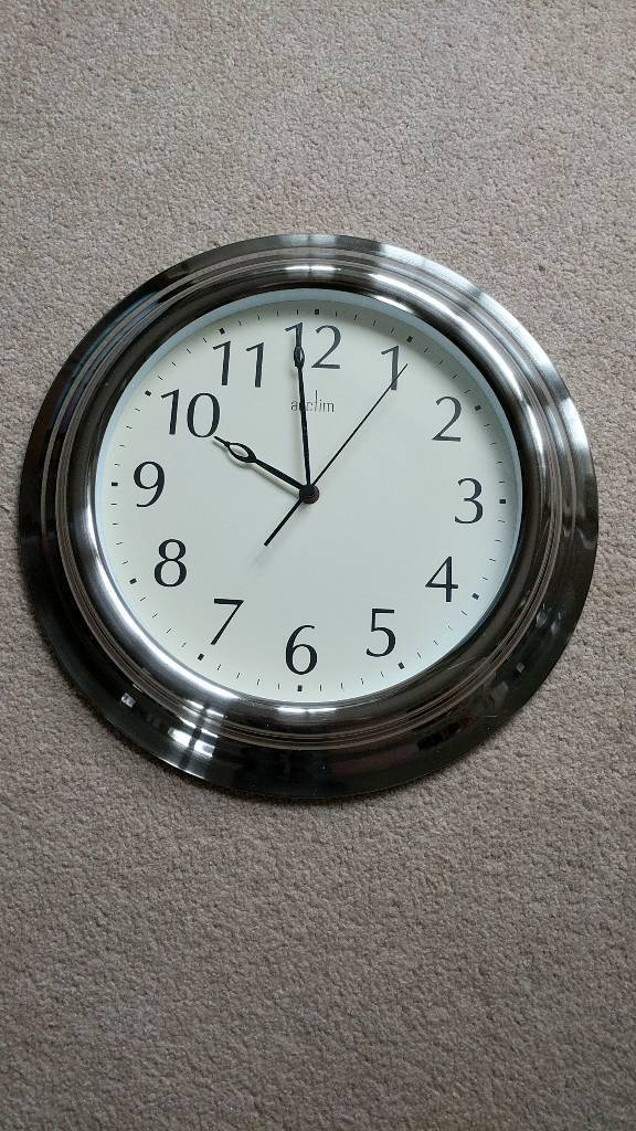 Actim Stainless Steel Wall Clock In Spennymoor County Durham