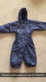 Boys Waterproof suit (Trespass) 18-24months