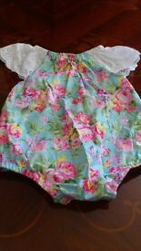 Baby girls floral romper suit, 18 months, brand new