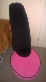 Pink and Black High Heel Chair
