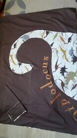 Next Dinosaur curtains and matching bedding set