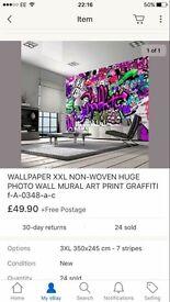 Graffiti wall mural brand new