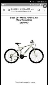 Mens boss mountain bike