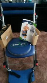 Chair Gym. Exercise chair with all accesories and instruction book.