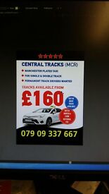 Manchester plated taxi for hire/track