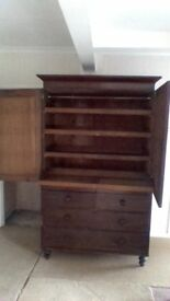 Large chest of drwers and shelves