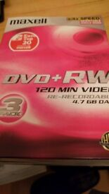 DVD + RW - Maxell 1-4x speed (3 pack)