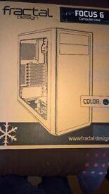 Fractal Design Focus G Black Mid Tower Case + Red LED Fans