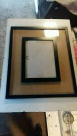 3 picture frames various sizes