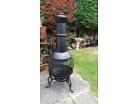 Chiminea fire pit outdoor garden heater