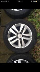 4 x 16 inch Alloys with good tyres