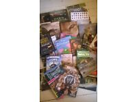 Bundle of 34 books - fiction, natural history, reference