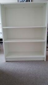 Bookshelf in white from IKEA