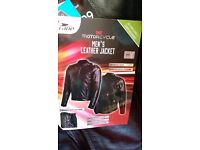 Mens New Motorcycle Leather Jacket