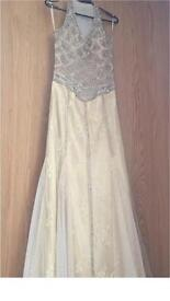 Stunning gold ballgown with crystal and bead details