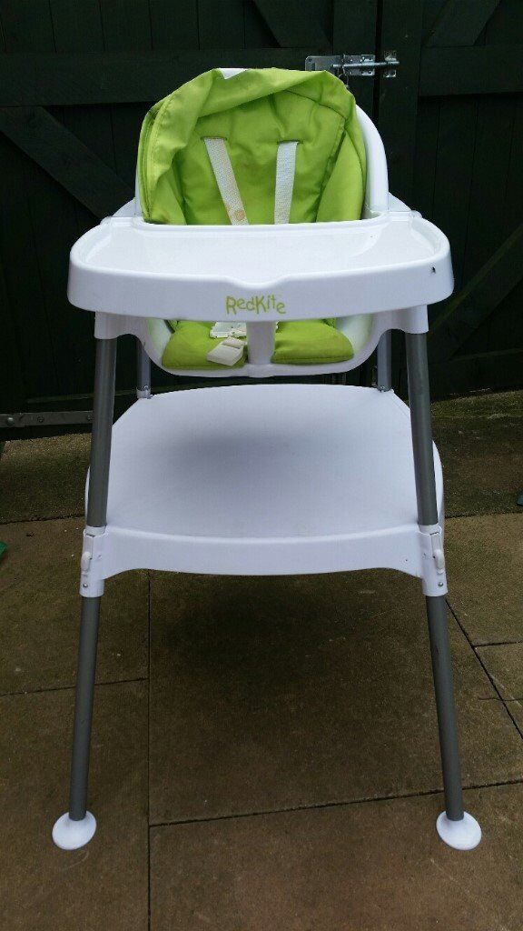 Baby Highchair 2 In 1 High Low Feeding Chair Redkite Manf Little Use
