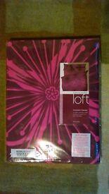 Catherine Landsfield Designer Double Duvet quilt cover set,New.Purple/Cerise