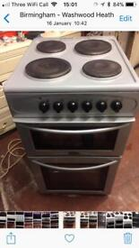 Silver belling 50cm electric cooker grill & oven good condition with guarantee