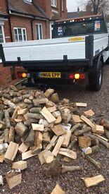 Logs seasoned ash oak beech etc