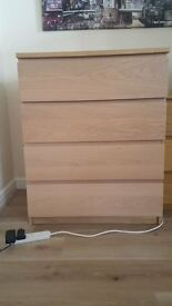 Wooden chest of drawers - very good condition
