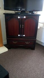 Mahogony tv cupboard, solid wood