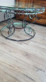 Clock face coffee table industrial/ vintage