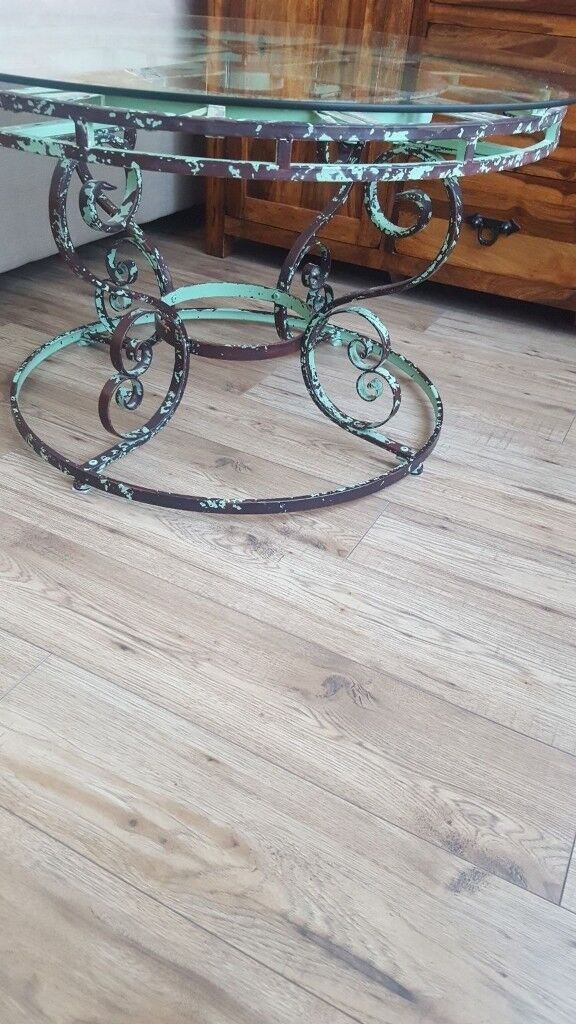 Clock Face Coffee Table Industrial Vintage