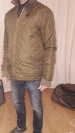 Mens Khaki Nicholas Deakins quilted jacket