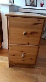 2 Solid pine filing cabinets