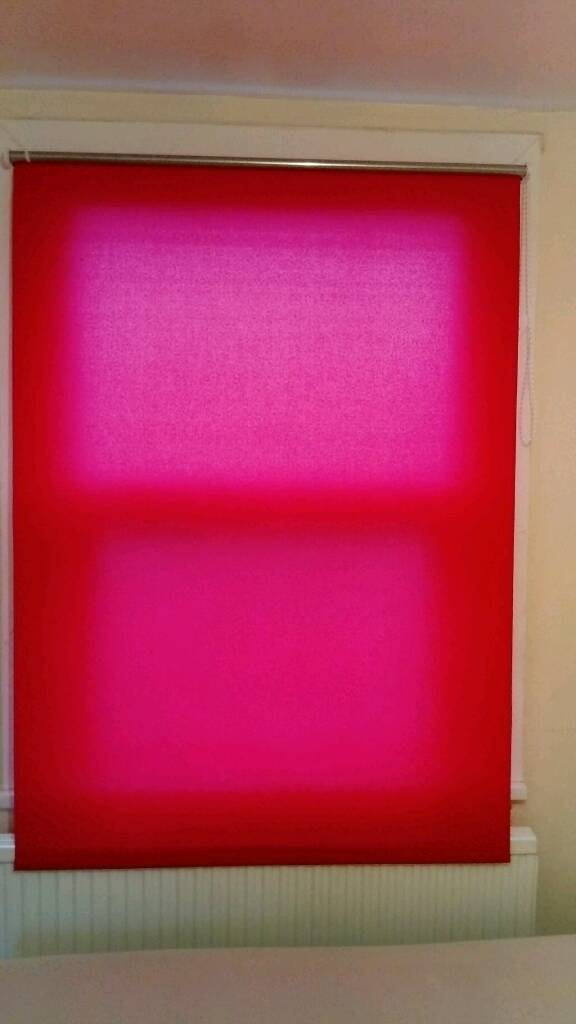 Ikea red roller blind in perfect working order
