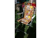 Original retro folding garden/ camping chair