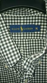 Ralph Lauren xl shirt black checked