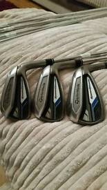 Taylormade irons and ping wedges