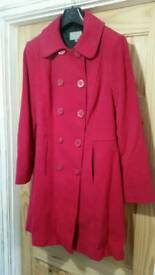 Size 16 Per Una M&S Cerise pink Ladies coat