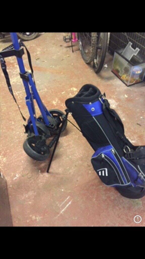 Kids golf bag & trolley