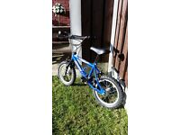 """Boys 14 """" bike bmx in excellent condition can deliver for a small charge"""