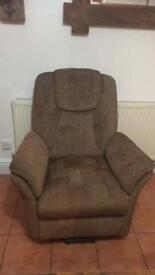Reclining remote control chair