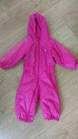 Girls all-in one rain suit 6-12mths
