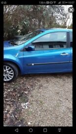 Blue Renault Clio for sale.