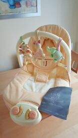 Mamas & Papas Sunshine Safari Musical Baby Bouncer Chair Bouncing Activity Cradle with instructions