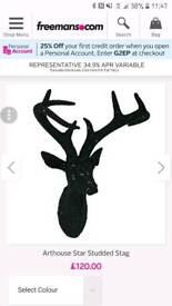 2 x Arthouse Stag Heads