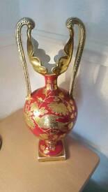 Vintage porcelain gold plated jug