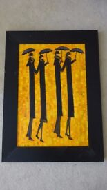Clarke - Beatles-esque Signed Oil on Board Painting... 95 cm x 75 cm