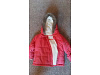 Pink Marks and spencers girls coat 12-18 months. In good condition