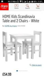 Brand new ex display kids table and 2 chairs set rrp £54.99 free delivery in hull