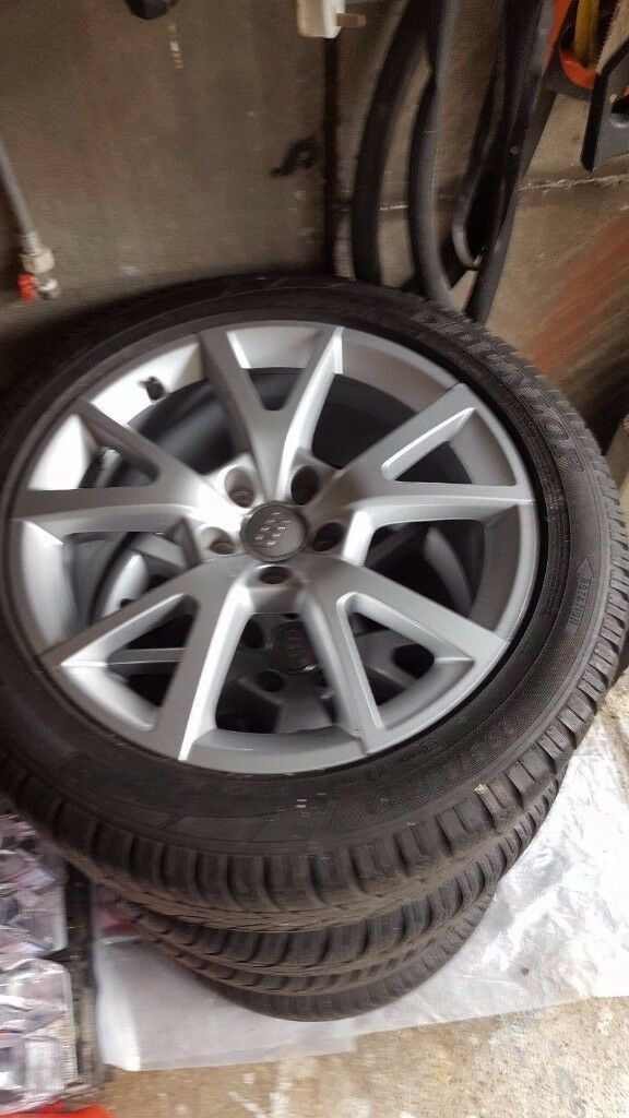genuine audi a6 4g winter wheels dunlop winter tyres 225. Black Bedroom Furniture Sets. Home Design Ideas